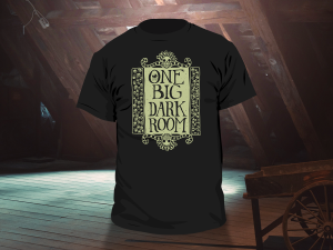 One Big Dark Room T-Shirt Illustration